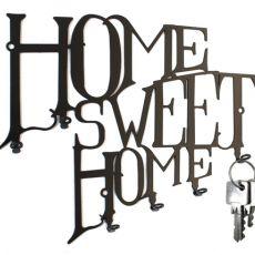 Schlüsselbrett Home Sweet Home - Hakenleiste aus Stahl